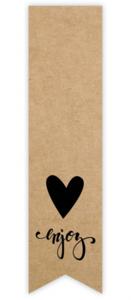 Sticker Label kraftlook enjoy