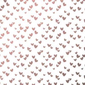 Vloeipapier Solo hearts pink