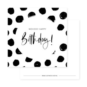 Mini kaartje Wohoo! Happy Birthday!