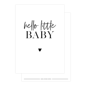 Ansichtkaart Hello little baby