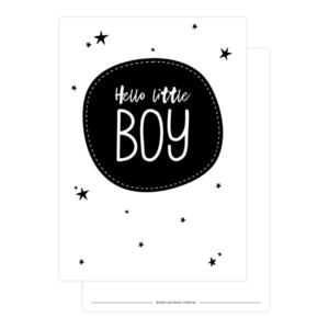 Ansichtkaart Hello little boy