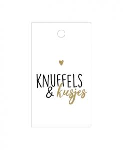 Cadeaulabel Knuffels en kusjes