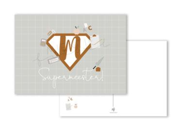 Ansichtkaart Supermeester!