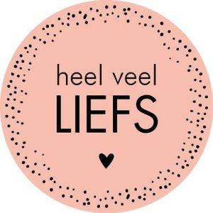 Sticker Heel veel liefs (pink dots)