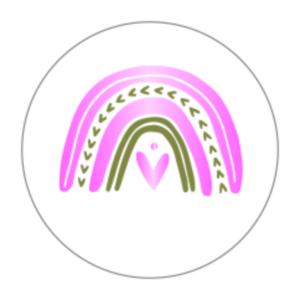 Sticker Rainbow goudfolie roze