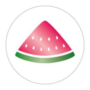 Sticker Watermeloen