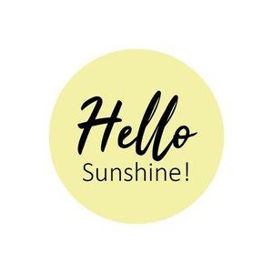 Sticker Hello sunshine (rond)