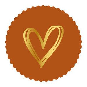 Sticker Golden heart terra (zegel)
