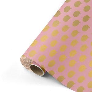 Cadeaupapier Let's talk roze/goud/blush