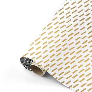 Cadeaupapier Open spaces goud/wit/zwart