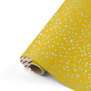 Cadeaupapier Colorful Terrazzo oker/mint/roest