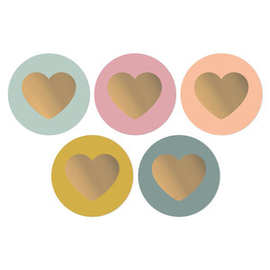 Sticker Lovely hearts colorful