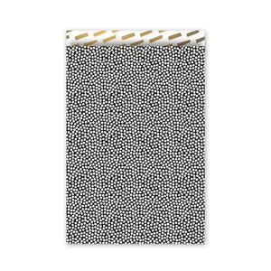 Cadeauzakjes Cozy cubes zwart/wit/goud 17 x 25