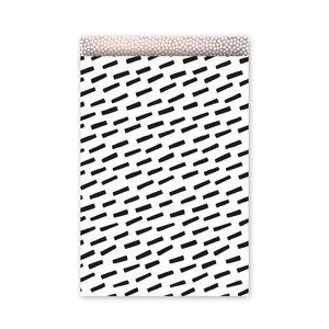 Cadeauzakjes Open Spaces zwart/wit/oudroze 17 x 25