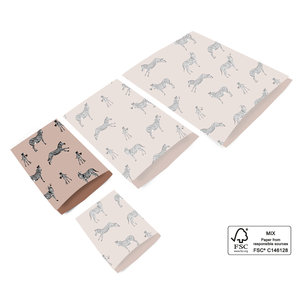 Cadeauzakjes Pink zebra 12 x 19