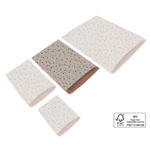Cadeauzakjes Confetti taupe/terra 17 x 25
