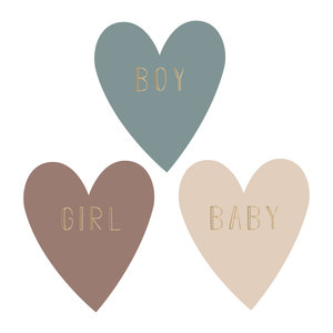 Stickers Baby heart multi/gold