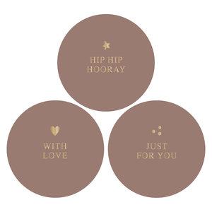 Stickers Hip hip hooray combi terra/gold
