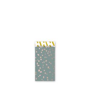 Cadeauzakjes Colorful terrazzo wax/oudroze/oker 7 x 13