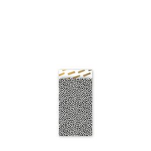 Cadeauzakjes Cozy cubes zwart/wit/goud 7 x 13