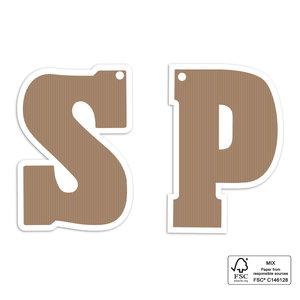 Cadeaulabel Chocolade letter S
