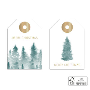 Cadeaulabel Forest gold bos
