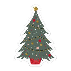 Stickers Kleurrijke kerstboom