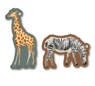 Cadeaulabel Jungle zebra