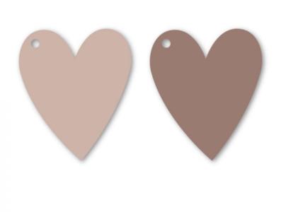 Cadeaulabel Heart nude