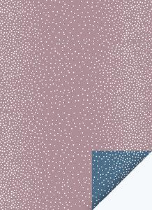 Cadeaupapier Dots mauve/nightblue