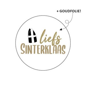Sticker Liefs Sinterklaas