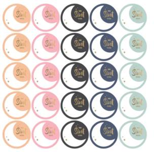 Stickers Sint maan assorti