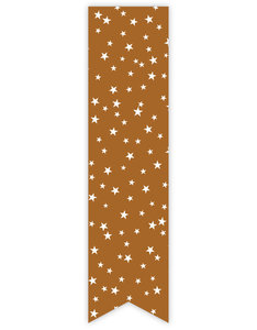 Sticker label caramel met sterretjes