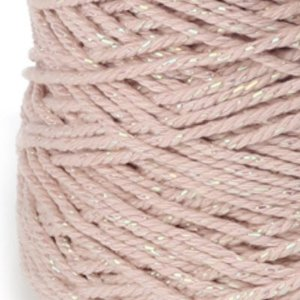 Cotton cord Irisé roze parelmoer roll