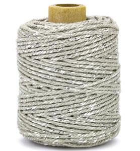 Cotton cord grey/silver roll