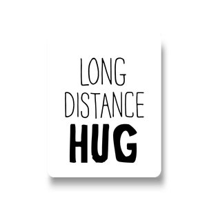 Sticker Long distance hug