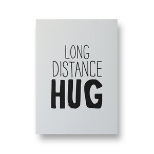 Ansichtkaart Long distance hug