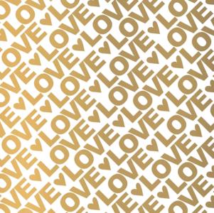Vloeipapier Love letters goud
