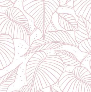Vloeipapier Lovely leaves roze