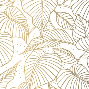 Vloeipapier Lovely leaves goud