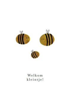Wenskaart Bijen 'Welkom kleintje'