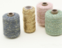 Cotton cord seagreen/gold roll_