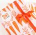 Sticker Van sint voor... wit/oranje_