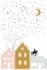 Cadeaukaartje Sinterklaas op dak_