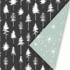 Cadeaupapier Lovely trees zwart/wit/mint_