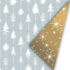 Cadeaupapier Reach for the stars goud/wit/ijsblauw_